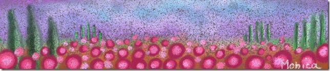 fiori rosa su fondo nero