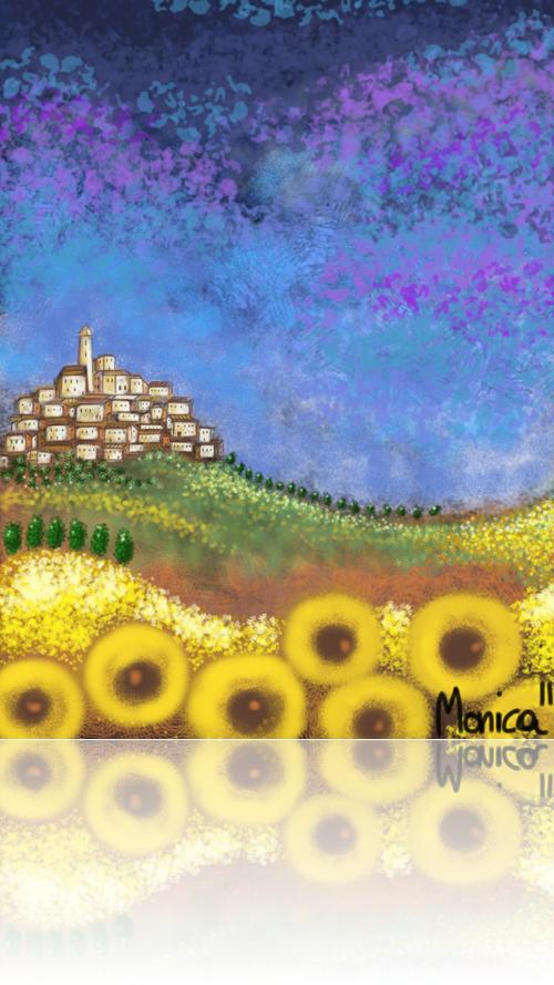 Collina in fiore