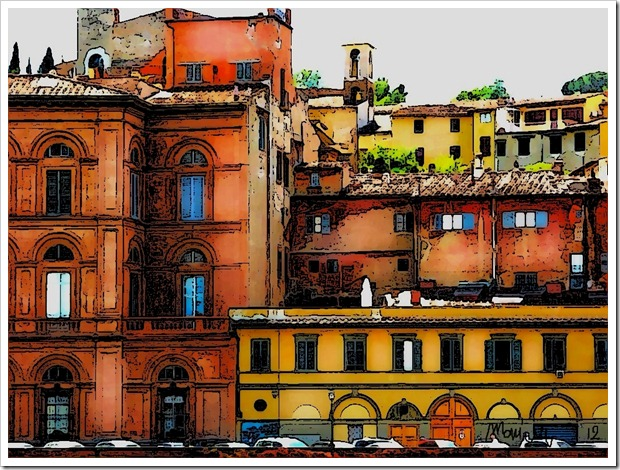 Firenze sketched and signed