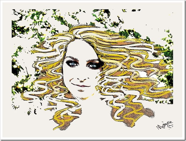 Gaia Bionda Capelli Mossi Paint.Net
