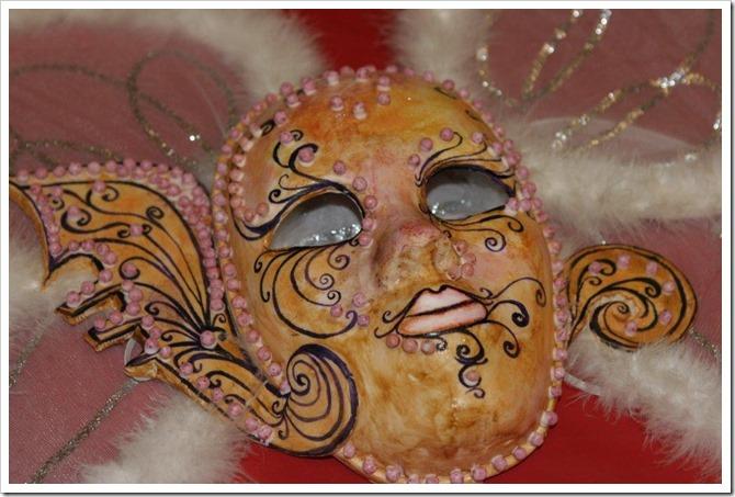 Maschera di carnevale in sugar paste