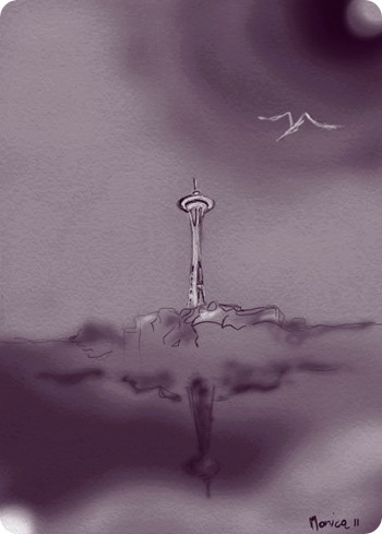 Rainy Day Space Needle