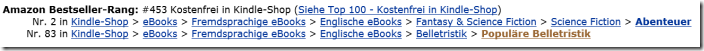 #2 and #83 bestseller list in Amazon.de Settembre 2013