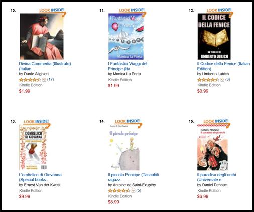 I Fantastici Viaggi del Principe Italian Bestseller list Novembre 2013